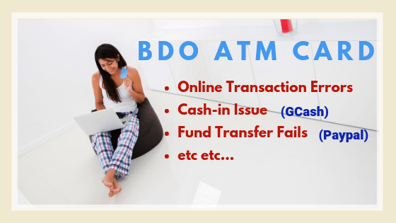 Insights for BDO ATM Debit Card Errors and Issues in Online