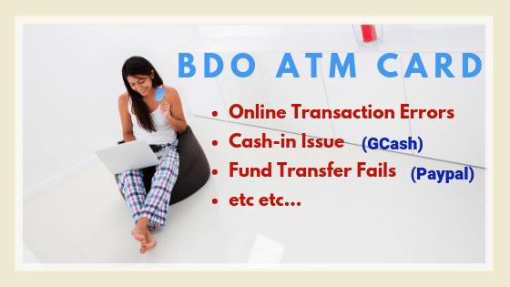 bdo can't cash-in to gcash