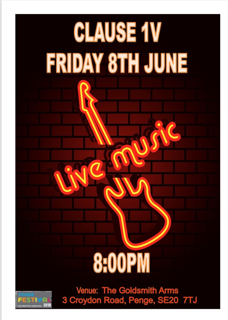 Clause 1V - Live Music at The Goldsmiths Arms Penge
