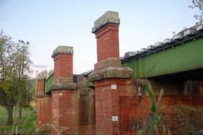 Looking back to the bricked pylons