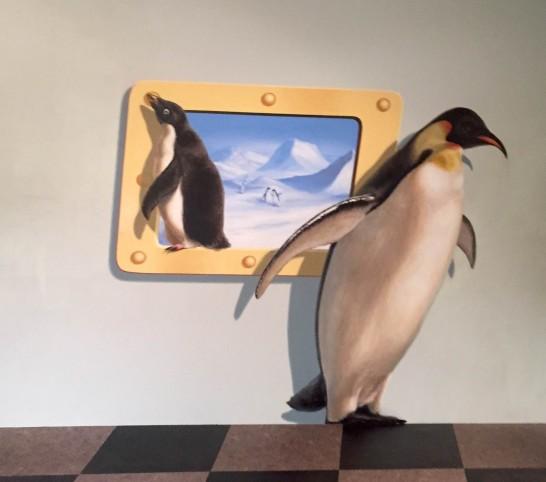 アデリーペンギン&皇帝ペンギンのトリックアート