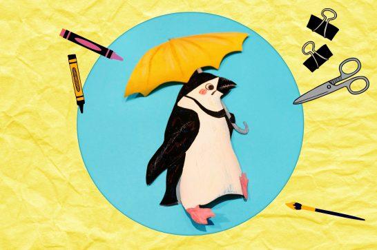 絵本作家fukiさんが描くヒゲペンギン