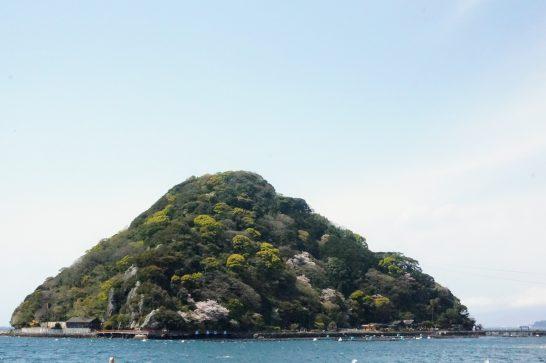 駿河湾沿岸から見る淡島