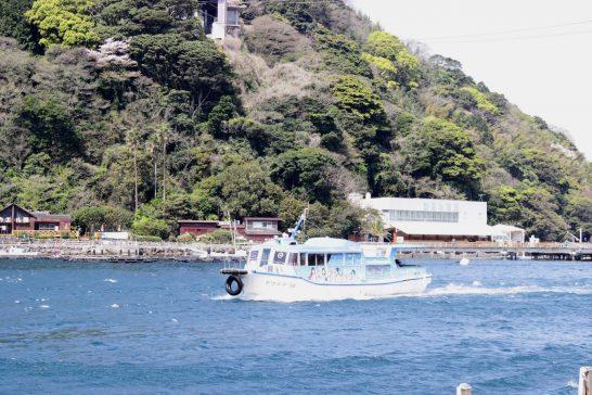 淡島に渡る船