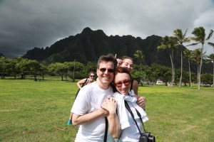 New friends on Oahu Photography Tours photo bomb
