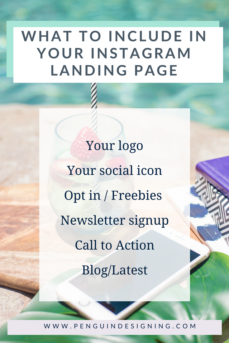 What to include in your Instagram landing page - checklist. Penguin Designing