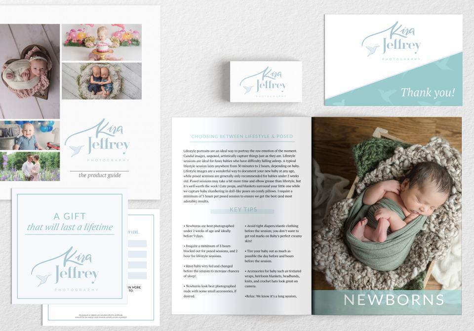Newborn and maternity photographer branding by Penguin Designing