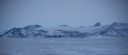 Our little town, McMurdo, nestled where the hills meet the sea