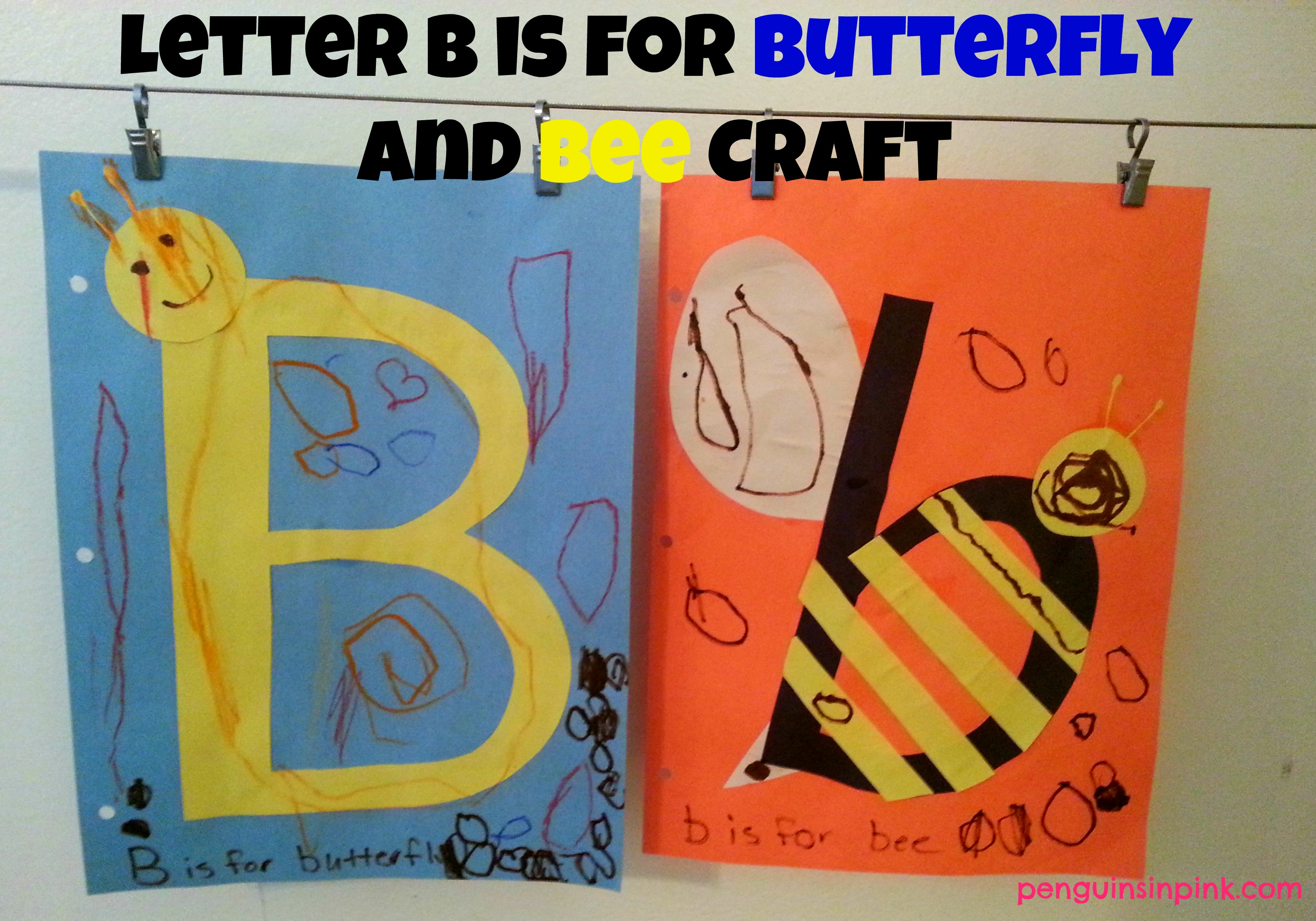 Letter B Is For Butterfly And Bee Craft