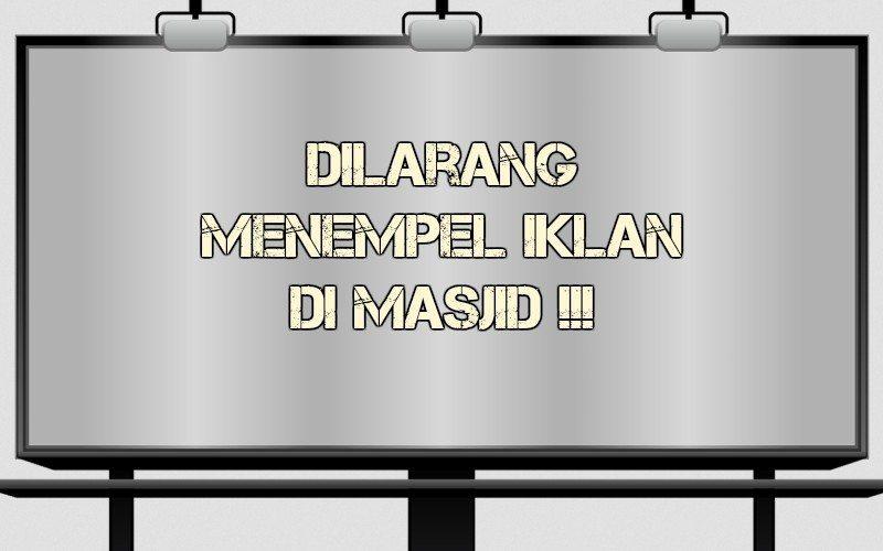 hukum iklan di masjid