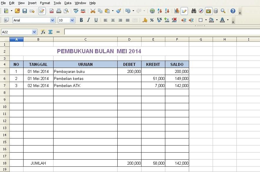 Contoh Format Laporan Keuangan Bulanan Excel Pdf