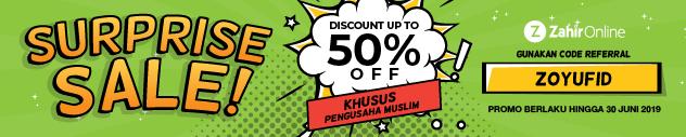 surprise sale zahir bagi pengusaha muslim