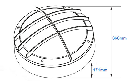 dart round grille line drawing