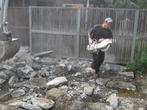 how to remove a concrete patio