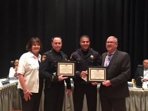Left to right: Board member Adrienne Tissier, Deputy Rueppel, Deputy Whitted, Caltrain GM Jim Hartnett.