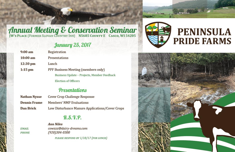 Invitation to the 2017 Peninsular Pride Farms Annual Meeting & Seminar