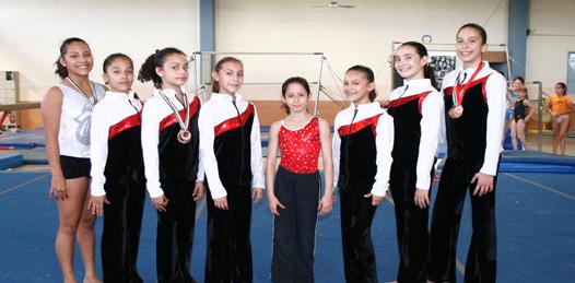 Triunfaron gimnastas sudcas en el nacional