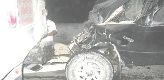 Dos personas lesionadas en sendos accidentes carreteros