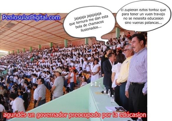 Agundes, un governador preocupado por la educasion