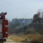 """Elementos de seguridad privada """"Erco"""" que resguardan la propiedad, solicitaron la intervención de los bomberos de San Lucas, debido a que por causas no establecidas se inició un incendio de hierba seca que rápidamente se propagó alentado por el viento."""