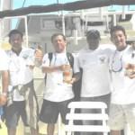 Con alegría celebraron los integrantes del equipo mexicano encabezado por Oscar Daccarett de su triunfo como bicampeones del torneo IGFA Offshore con más de 2 mil puntos