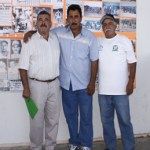 """Pablo Morales, Francisco """"Zurdo"""" Camacho y Francisco """"Poncho"""" Puppo Espinoza, captados en el estadio Arturo C. Nahl, durante el estatal nuevos valores."""