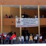 El dirigente Estatal de BCS, Rosalino Hernández Gómez, pronunció el pliego petitorio que desde hace dos años y medio ha sido ignorado por la presidenta municipal con licencia, Rosa Delia Cota Montaño.