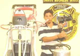 Hasta con un tanque de gas cargó el Nicho al atracar una vivienda
