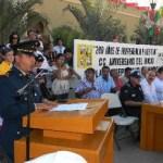 El Teniente Coronel de Infantería Diplomado de Estado Mayor, Martín Germán Muñoz Navarro, dio el discurso oficial del 16 de septiembre, en el marco del Bicentenario de la Independencia.