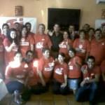 Los jóvenes del PRI comandados por Naita Beltrán, estuvieron en Loreto para promover la megaconsulta. Con ellos, el presidente del CDM del PRI en Loreto, Lorenzo Ochoa.