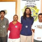 Rigoberto Moroyoqui Loredo, Heberto Morales Lazalde, José Antonio Camacho Castro y Salvador Pedroza González.