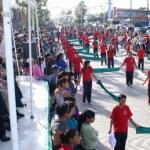 Sin lugar a dudas que el desfile del centenario fue uno de los de mayor presencia ciudadana, tanto en contingentes participativos como en publico, manifestó el presidente municipal de Comondú, Dr. Joel Villegas Ibarra, en la ceremonia cívica conmemorativa del Centenario de la Revolución.