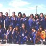 Selección juvenil mayor femenil de La Paz que logró el primer lugar de la Olimpiada Estatal.