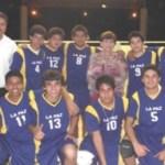 Selección juvenil menor varonil de La Paz, medalla de oro en el voleibol de la Olimpiada Estatal.
