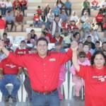 """Este respaldo manifiesto del priismo nacional, viene a fortalecer la inercia ascendente del """"candidato a gobernador más joven de México"""", como lo calificara después de la sesión, la propia presidenta nacional del PRI, viene a fortalecer la inercia ascendente de Ricardo Barroso en su carrera hacia la gubernatura de Baja Californias Sur."""