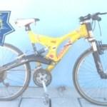 Esta es la bicicleta que abandonara el sujeto que lograra darse a la fuga en la colonia El Manglito en esta ciudad.