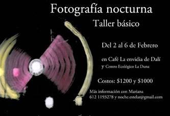Impartirán «Taller básico de Fotografía nocturna»