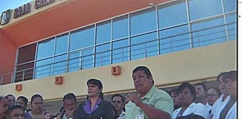 Los trabajadores fueron recibidos en el despacho de la Secretaría General de gobierno por su titular Alfredo Porrras  acompañado de los secretarios de Salud, Francisco Cardoza y José Antonio Ramírez Gómez de Finanzas así como el contralor del estado Román Pablo Rangel.