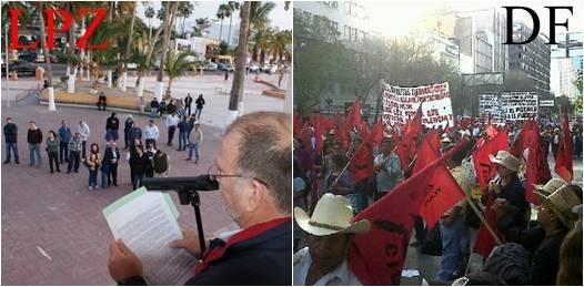 Se unen telefonistas y mineros de BCS a movilización nacional