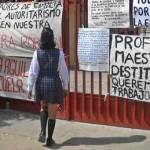 La escuela estuvo cerrada la semana pasada debido a que la sociedad de padres de familia pedía que un maestro fuera retirado por la SEP del grupo de tercer grado a su cargo por presuntos hechos que podrían constituir maltrato verbal y psicológico a sus estudiantes.