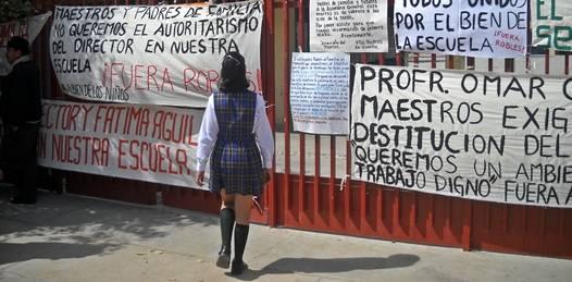 Volvieron a cerrar la escuela del FOVISSTE. Ahora los maestros piden la cabeza del director
