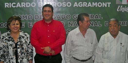 Protesta Ricardo Barroso como delegado del PRI en la entidad