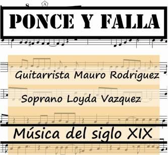 Loyda Vázquez, conocida soprano sudcaliforniana, junto al guitarrista Mauro Rodríguez, interpretará un repertorio de música decimonónica, donde seguramente figurarán piezas de José Ferrer, Johan Kaspar Mertz o Niccolò Paganini, para la guitarra.