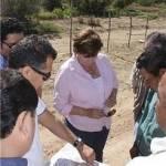 Cota Montaño dio el banderazo de para iniciar la primera parte de la pavimentación de dicho tramo y en la que se invertirán 3 millones de pesos.