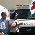 La presidenta del sistema DIF en la entidad recibió en el acto el nombramiento de presidenta honoraria de la Cruz Roja Nacional en Baja California Sur.