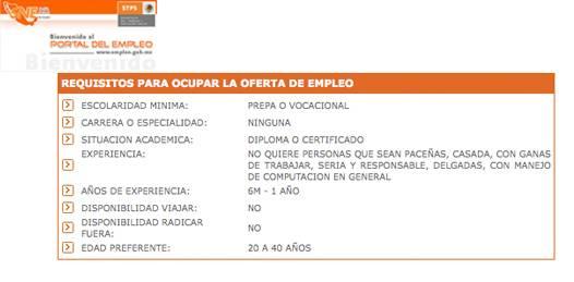 """""""No ser paceño"""" requisito para una vacante en Portal Nacional del Empleo"""