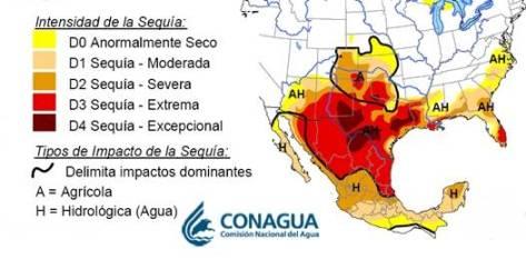 """Monitor de Sequía de América del Norte demuestra un nivel """"moderado"""" de sequía en la región que se ha venido intensificando en la estación seca, lo que hace prioritario la implementación de medidas para la captación de agua en la entidad."""