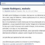 El reportero de la empresa televisiva Megacable Alejandro Acuña Rivera acusó al flamante director de Seguridad Pública del Ayuntamiento de Los Cabos, Lennin Rodríguez Aguilar de haberlo amenazado telefónicamente.