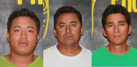 Eduardo Loeza Castillo, Lorenzo Cornejo Bravo y Noé Cornejo Morales.