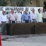 El discurso oficial de esta ceremonia cívica, estuvo a cargo de Luis Armando Díaz, director general de Desarrollo Social.
